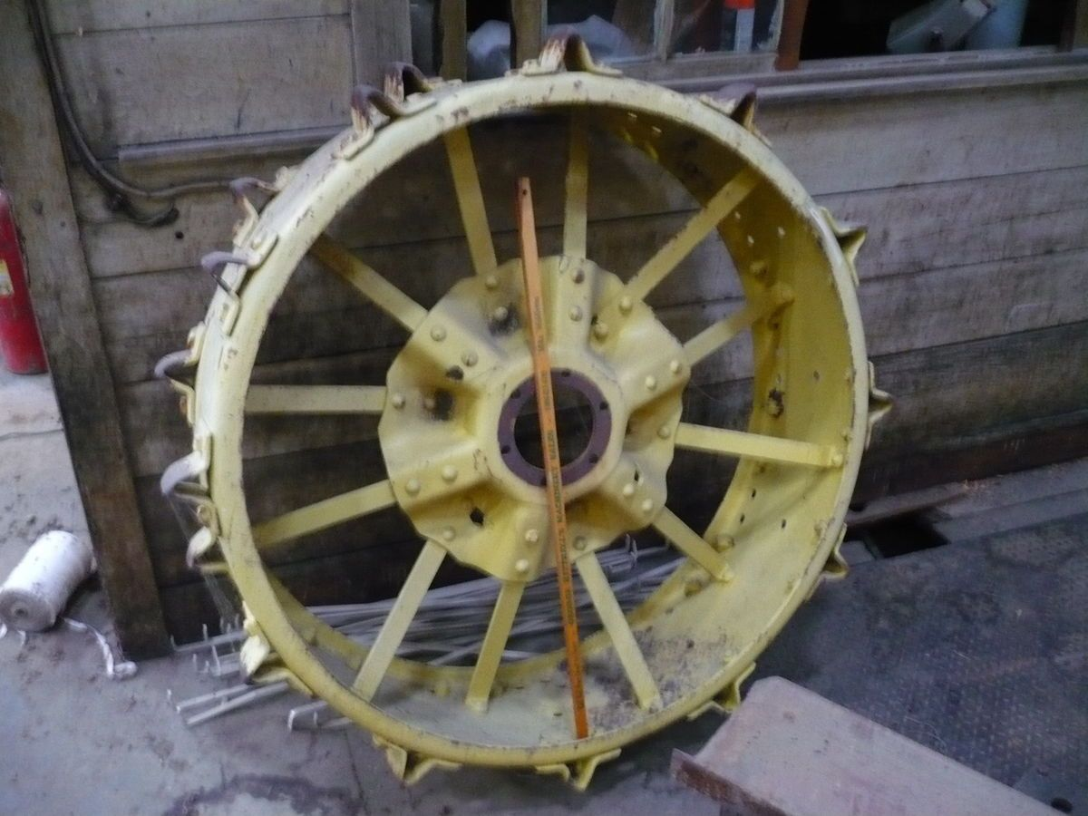 Antique Tractor Steel Wheels : Antique steel tractor wheels