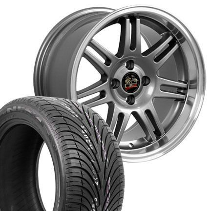 10 Gunmetal 10th Anniversary Wheels Nexen Tires Rims Fit Mustang 79 93