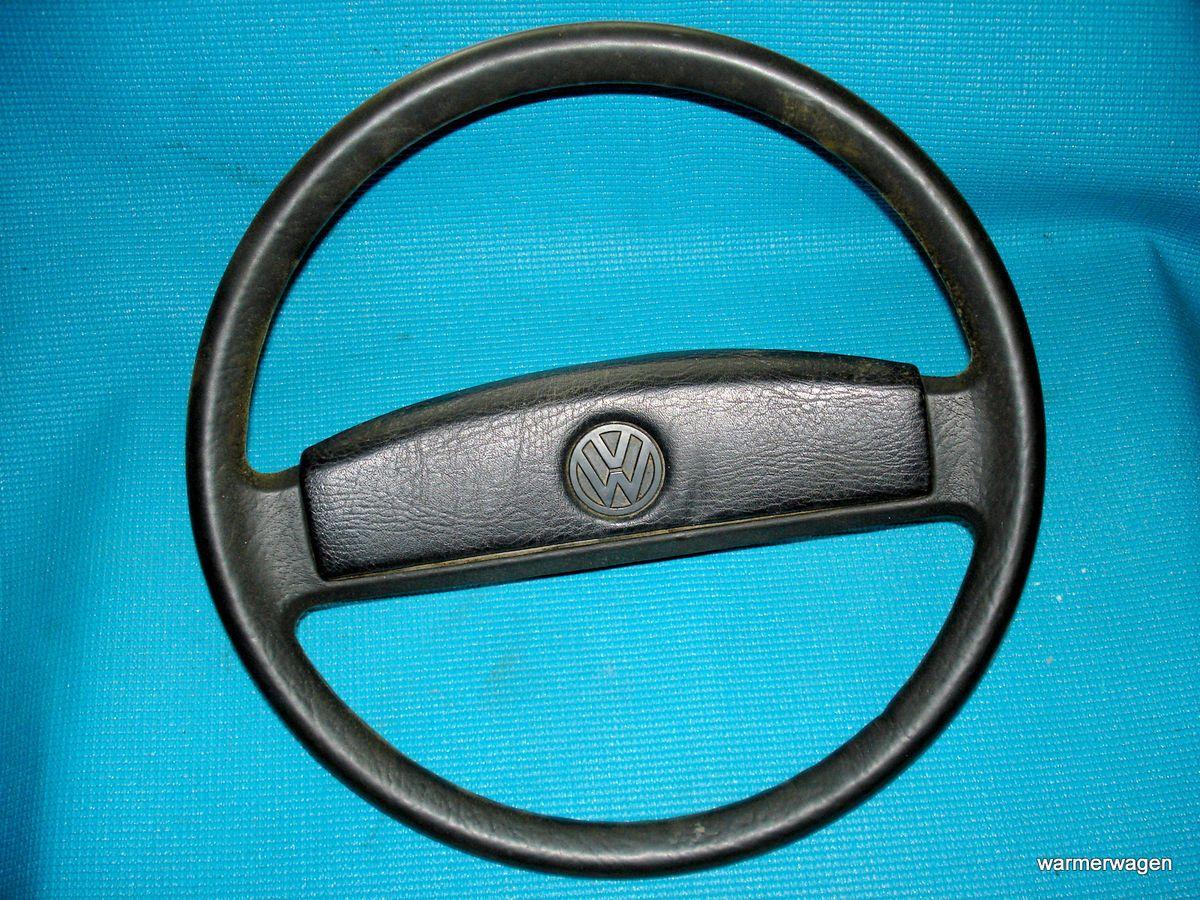 VW Volkswagen Vanagon Power Steering Wheel Black 80 91