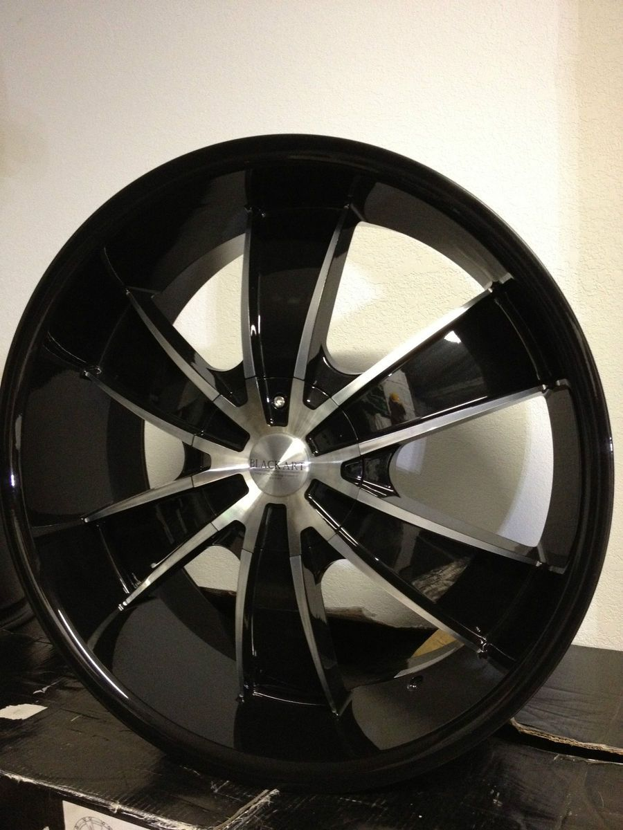 22 inch Black Art Wheels Rims Chevrolet Trailblazer SS GMC Envoy 6x5