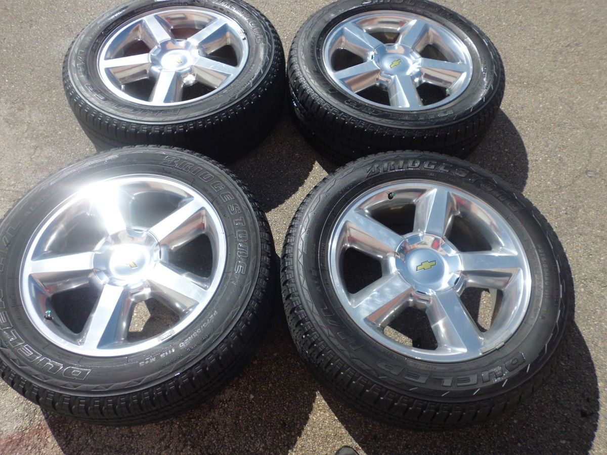 Factory Polished Chevy Taho Wheels Rims Tires Used