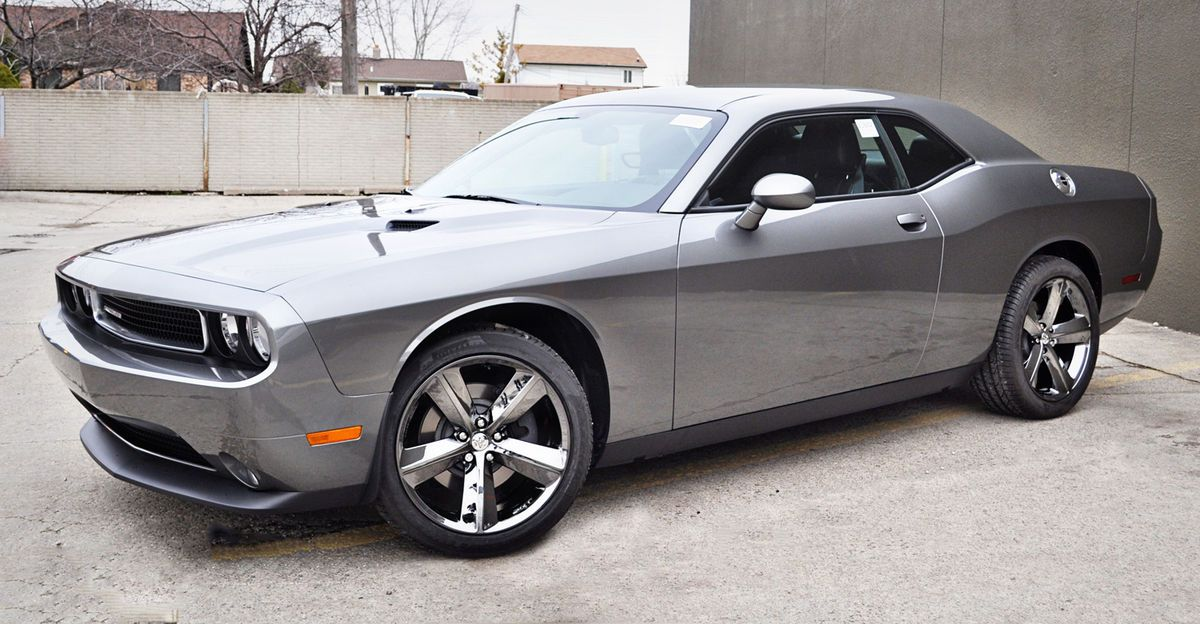 Dodge Challenger SRT8 Black Chrome Permachrome Wheels Rims 2329