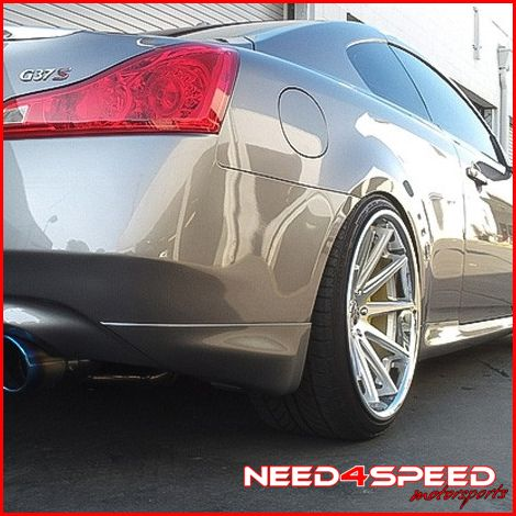 G35 Coupe Rohana RC10 Deep Concave Silver Staggered Wheels Rims