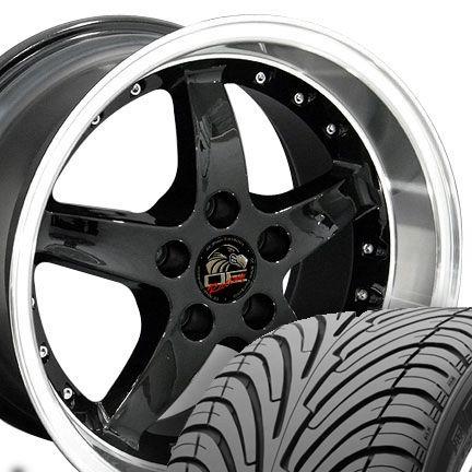 17 9 10 5 Black Cobra Wheels Nexen Tires Rims Fit Mustang® 94 04