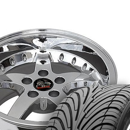 17 9 10 5 Chrome Cobra Wheels ZR Tires Rims Fit Mustang® GT 94 04