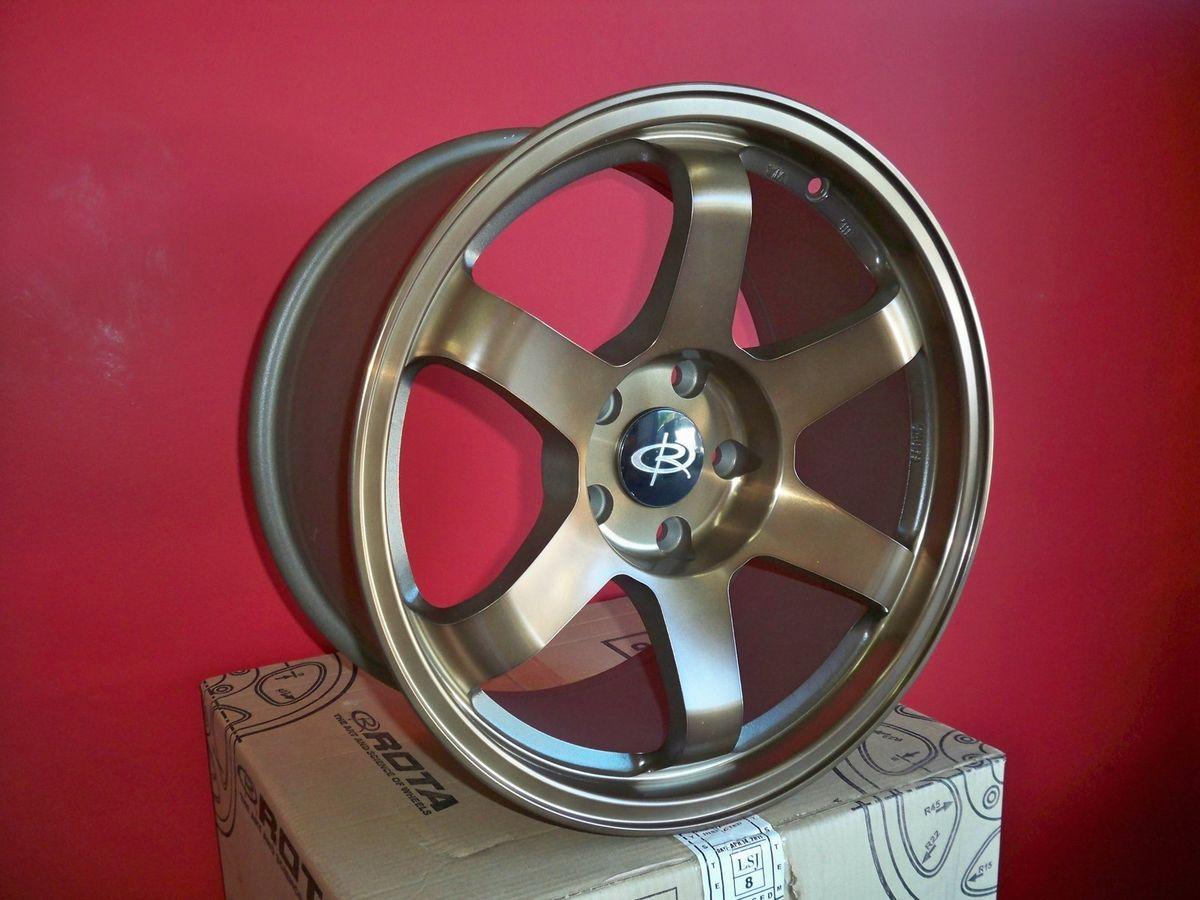 17 Rota Grid Sports Bronze Rims Wheels 17x9 42 5x100 Subaru WRX