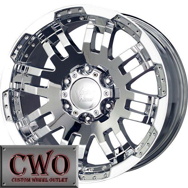 17 Chrome Vision Warrior Wheels Rims 8x165 1 8 Lug Chevy GMC Dodge