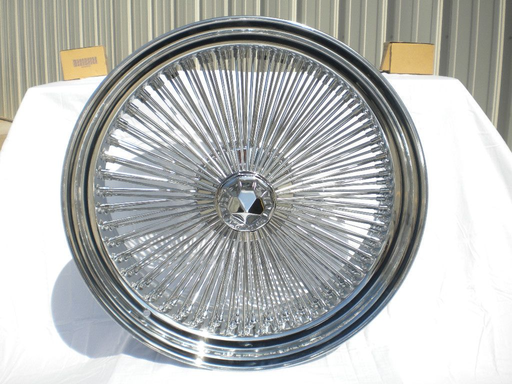 CHROME 15x7 Wire Wheels Full Set Rims NEW REAR WHEEL DRIVE KNOCKOFF