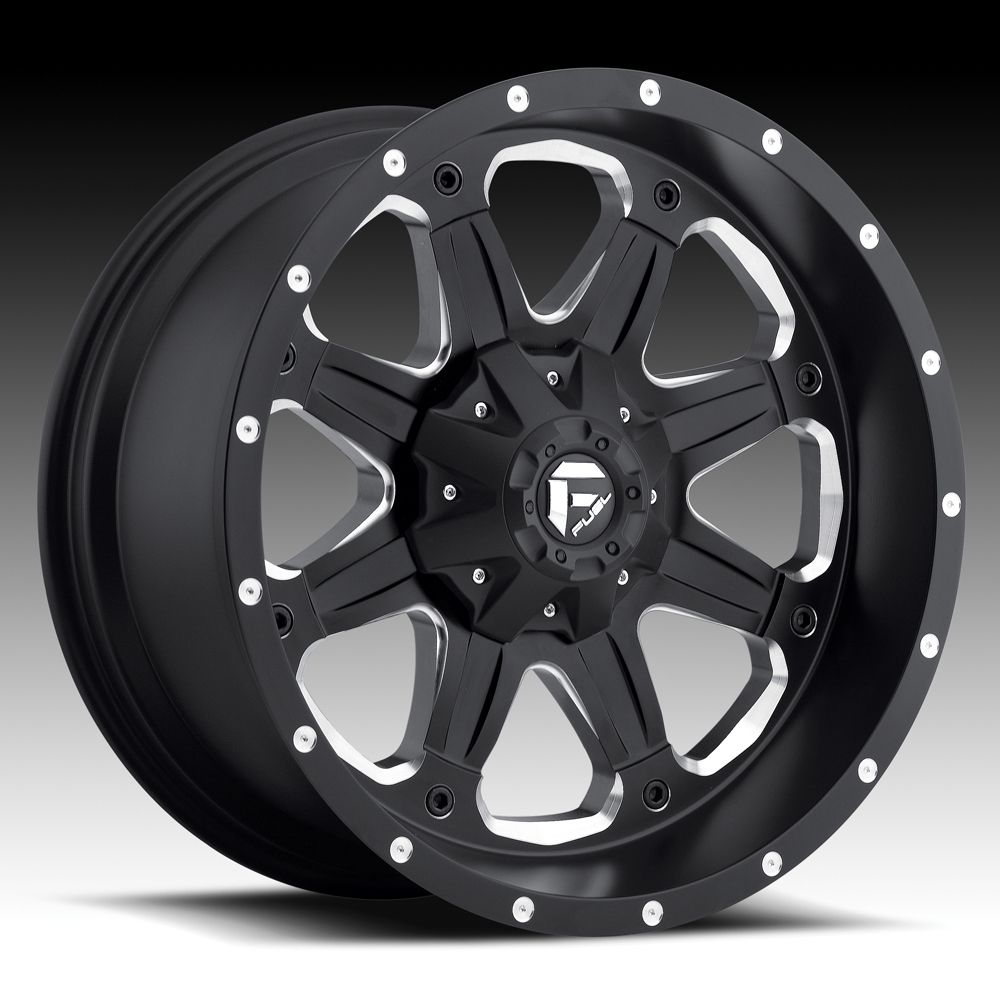 18x9 20 Fuel Boost Black Wheels Rims 6x5 5 6x135 6 Lug Chevy GM Ford