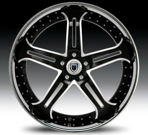 22 asanti AF167 Black Chrome Wheels Rims 2 Piece Tone