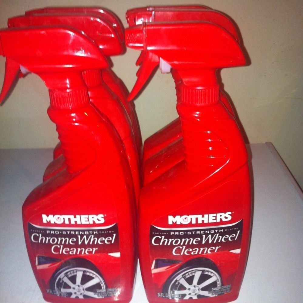 Lot of 6 Mothers 05824 Chrome Wire Wheel Cleaner Spray 24 Oz