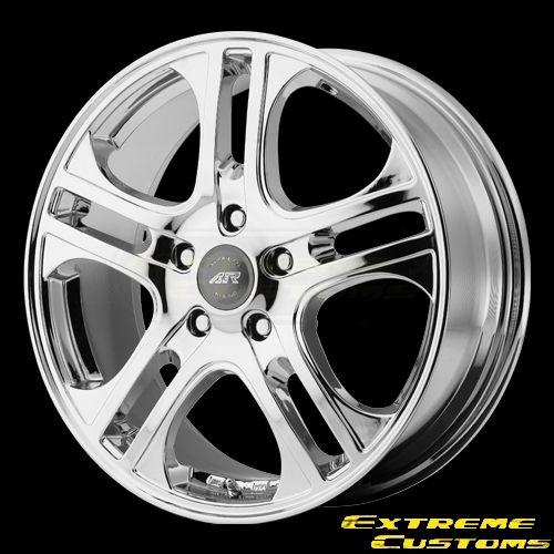 x6 American Racing AR887 AXL Chrome 5 Lug Wheels Rims Free Lugs