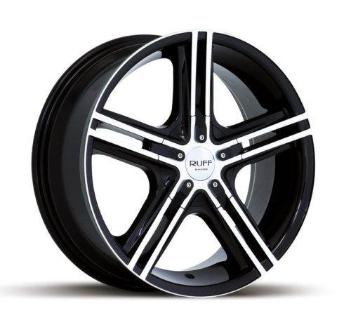 20 x7 5 Ruff Racing R933 Black Machined Wheels Rims