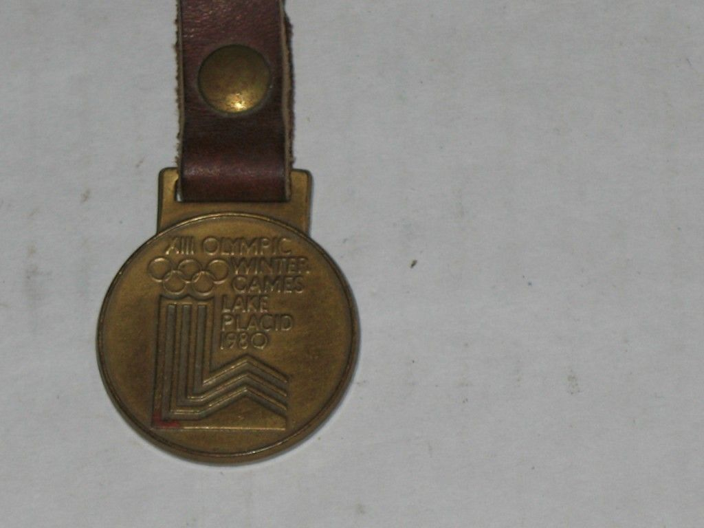 Vintage Watch Fob XIII Olympic Winter Games Lake Placid 1980