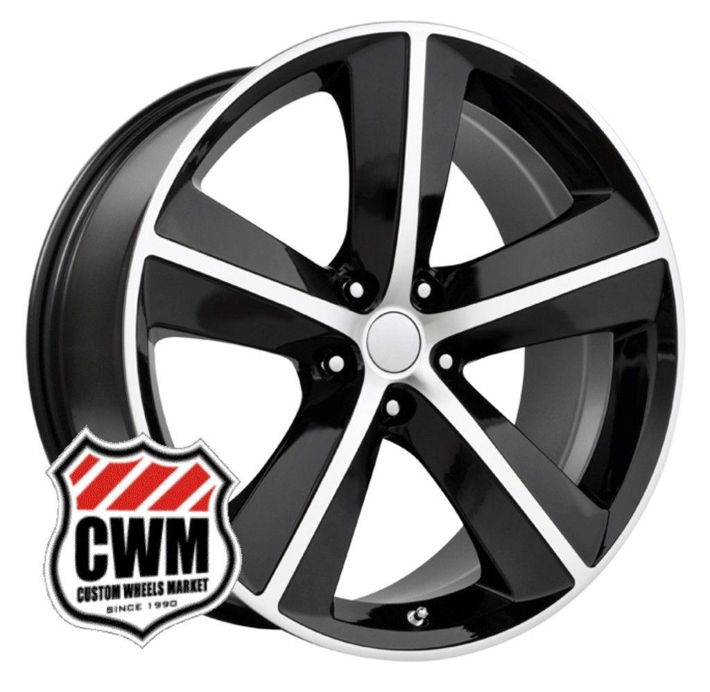 Challenger SRT8 Style Black Wheels Rims fit Chrysler 300 2005 2013