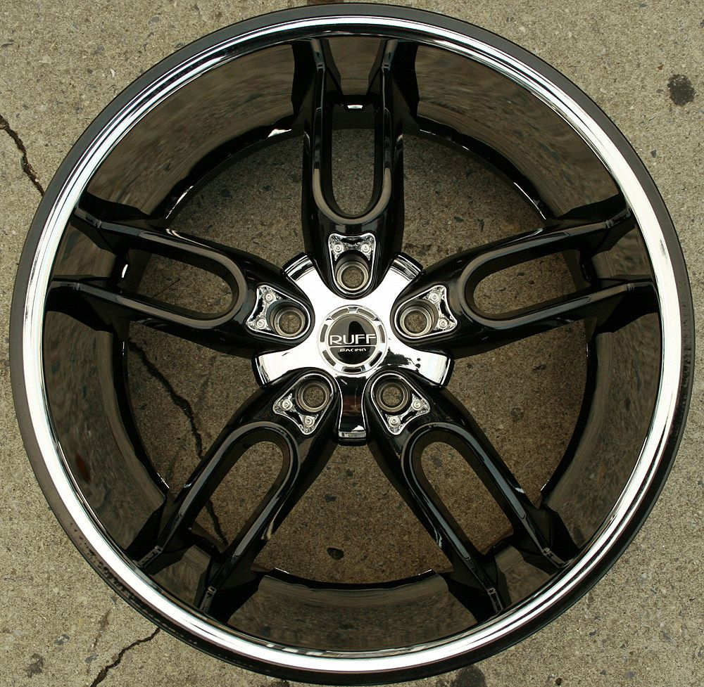 Ruff Racing 942 20 Black Rims Wheels Infiniti FX35 FX45 03 Up 20 x 10