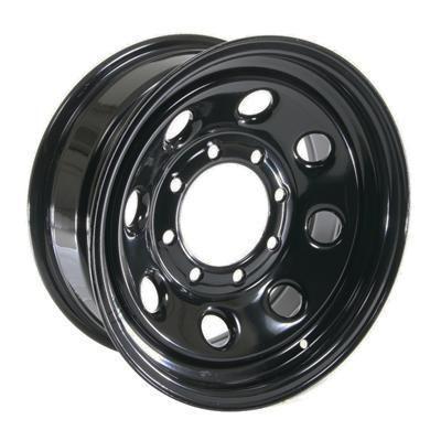 Cragar Soft 8 Black Steel Wheels 16x7 8x6 5 Set of 5